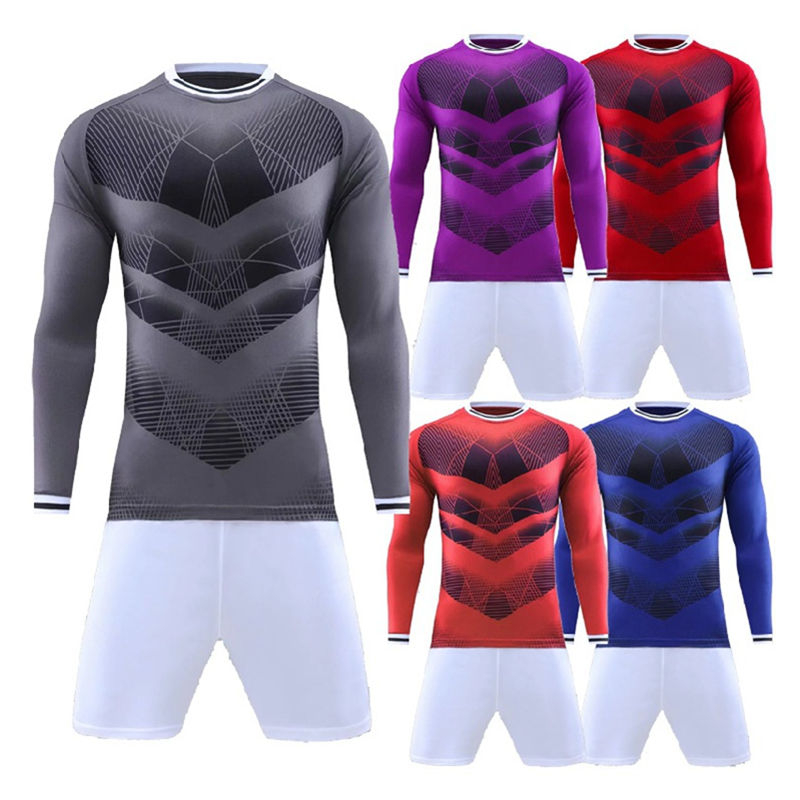 New Soccer Uniforms Customize Football Jerseys Soccer Sets 2 Pcs Training Suits Long Sleeve Goalkeeper Clothes