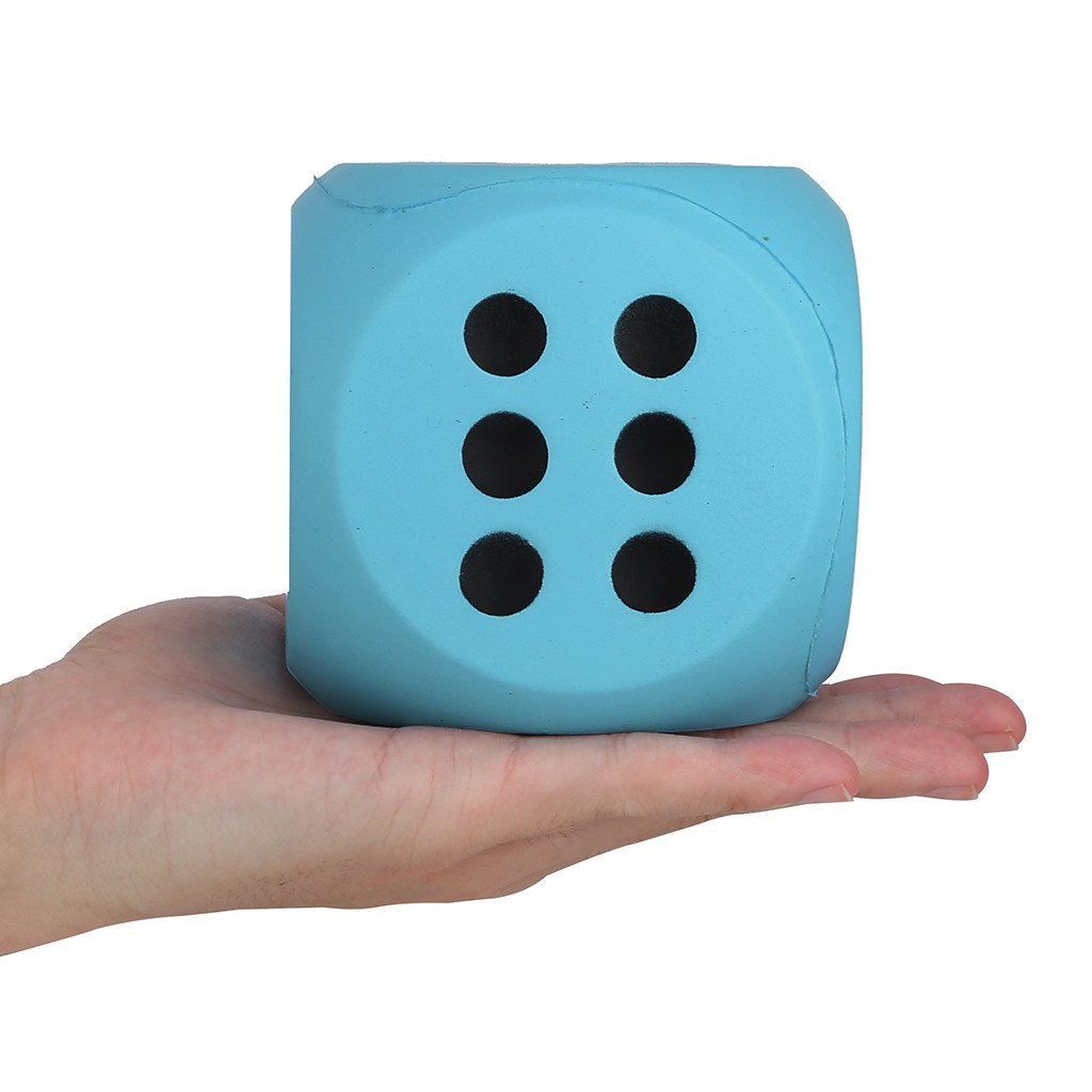 2020 NEW Children's Toys 10cm Giant Jumbo Dice Slow Rising Cream Scented Stress Relief Toys Hot Sale