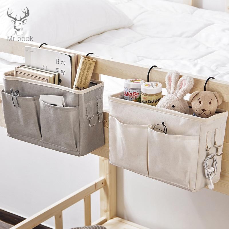 Creative Dorm Room Phone Book Magazine Organizer Holder With Hook Bed Pocket Hanging Storage Bag Desk Bedside Storage Organizer