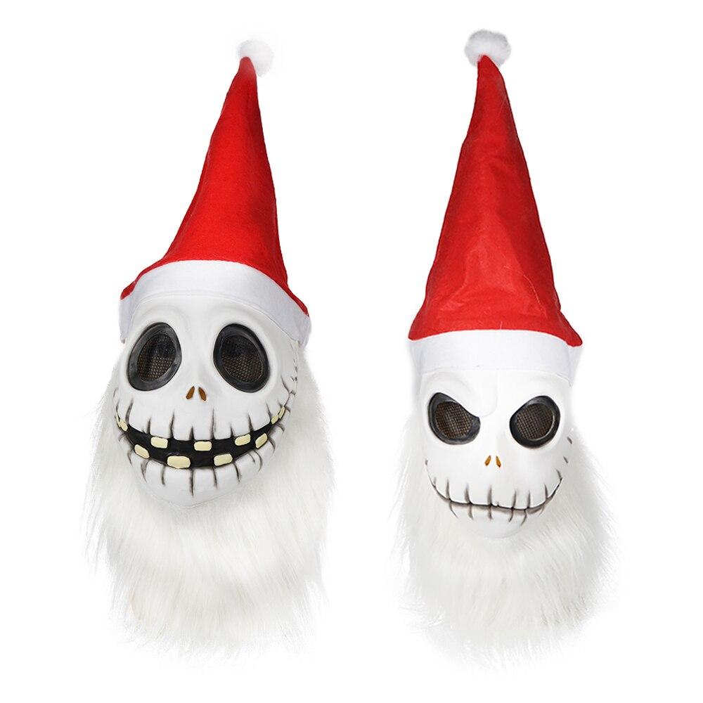 Mens Sandy Claws Mask Jack Skellington Half Mask The Nightmare Before Christmas Costume For Adult Skeleton Santa Claus Masks
