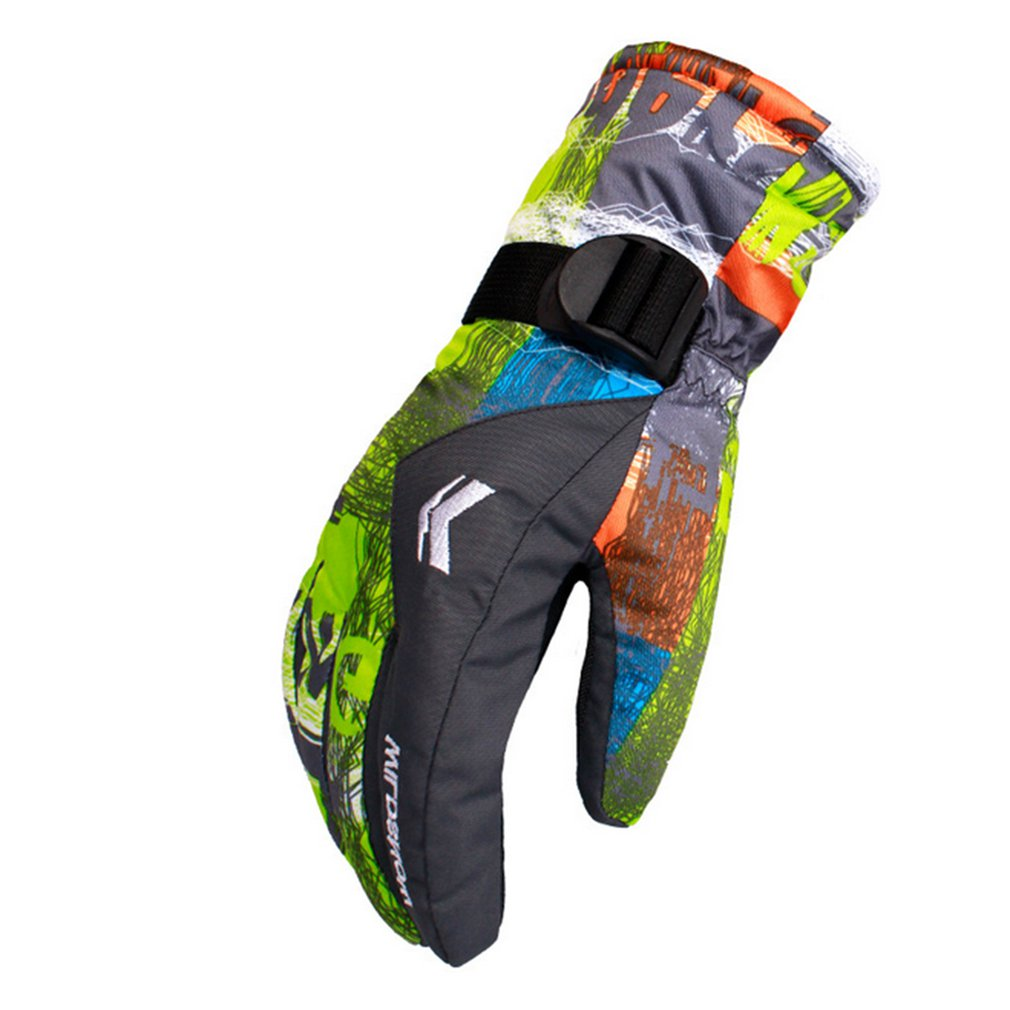 Couples Women Men Ski Gloves Snowboard Gloves Snowmobile Motorcycle Riding Winter Gloves Windproof Waterproof Snow Gloves