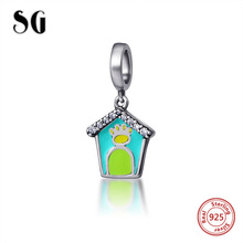New Authentic 925 Sterling Silver Charm enamel beautiful Horse Boy Beads with Fit Chmilia Bracelets DIY Jewelry Gift