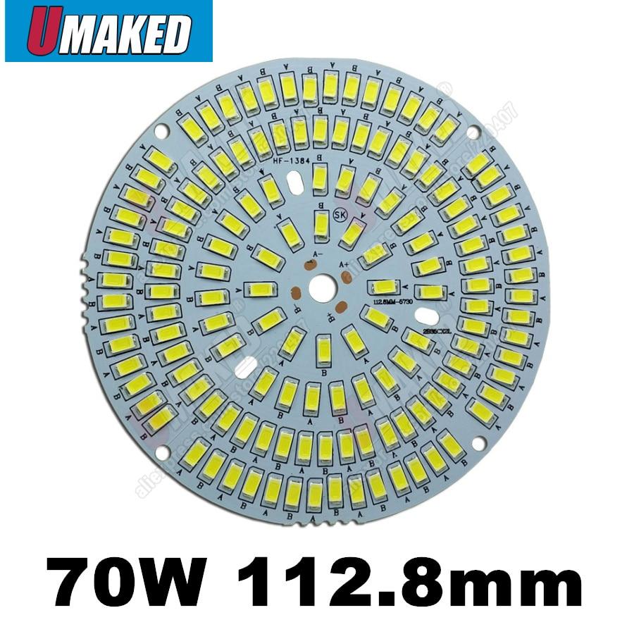 High Lumen 70W 112.8mm 7700lm SMD LED PCB lighting source,LED High Bay Light Lamp Led Industry Light Lamp Bulb,Aluminum board