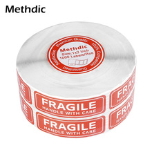 Self Adhesive Fragile Stickers Warning Label for Shipping 1000 stickers 1 x 3inch 9mm round packing ce regulated self adhesive label stickers black 192 x 15 pack
