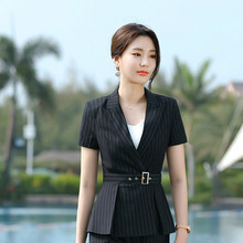 New 2020 Summer Women Formal Pant Suits Short Sleeve Blazer and Pants Office Lad