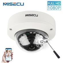 MISECU 2.8 ミリメートルバンダル 1080 1080P H.265 48V POE カメラ金属屋内ドーム Onvif P2P モーション検出 Eメール Ir 夜のセキュリティ IP カメラ