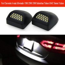 For Chevrolet Avala Silverado 1500 2500 3500 Suburban Tahoe GMC Sierra LED Number License Plate Light Bulb 6000K Car Accessories