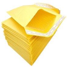 4 크기 50 Pcs 크 래 프 트 종이 버블 봉투 가방 패딩 된 메일러 배송 봉투 거품 메일 링 가방