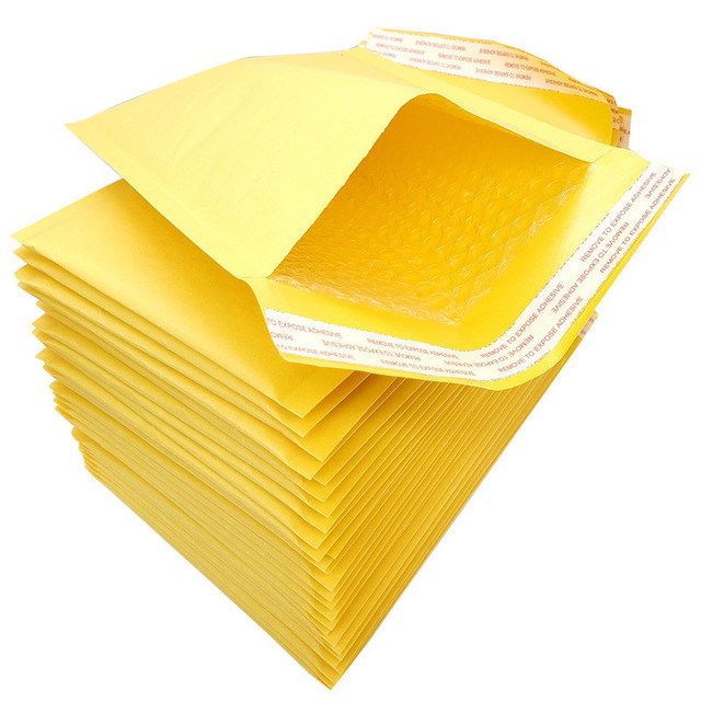 4 sizes 50 Pcs Kraft Paper Bubble Envelopes Bags Padded Mailers Shipping Envelope With Bubble Mailing Bag