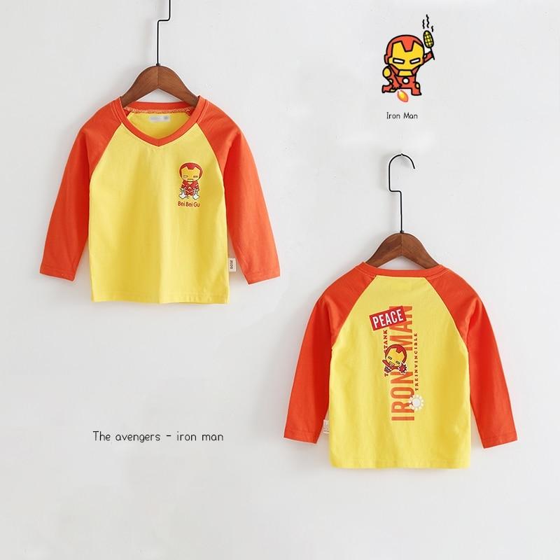 New Spring Boys Girls Cartoon Cotton T Shirts Children Tees Boy Girl Long Sleeve T Shirts Kids Tops Brand Baby Clothes 12M-8Y 46