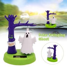 цена на Solar Shaking Head Doll Solar Swinging Ghost Car Decoration Cartoon Car Doll Car Interior Jewelry Halloween Gift