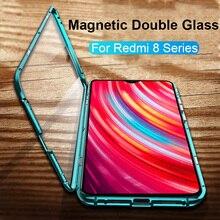 Redmi 8 8A แม่เหล็กโทรศัพท์กรณีสำหรับ Xiaomi redmi หมายเหตุ 7 8 Pro 360 ° เต็มรูปแบบ redmi 8 note7 note8 Pro หมายเหตุ 7pro กรณี Coque