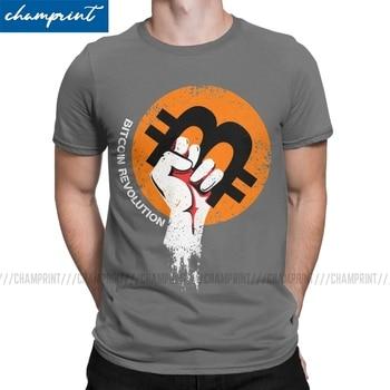 Crypto T-Shirts Men Bitcoin Cryptocurrency Btc Blockchain Geek Novelty Tees Crewneck Short Sleeve T Shirt Plus Size Tops 1