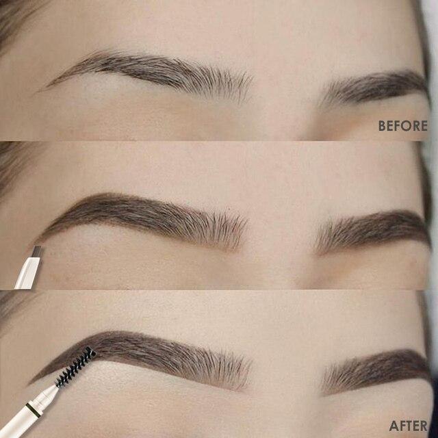 FOCALLURE Artist Sketch Eyebrow Pencil Waterproof Natural Long Lasting Tint 4 Color Brows Eye Makeup Eye Brow 5