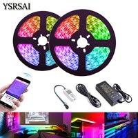 12V 10M Traum Farbe FÜHRTE Streifen Lichter Jagen Licht Streifen Bluetooth APP Control Wasserdichte SMD2811 RGB Voll Farbe licht led Streifen