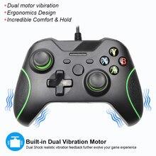 Consolas con cable USB para Xbox One, Mando para Xbox One, Control Delgado, PC, Windows, Joystick, PC, Win7/8/10