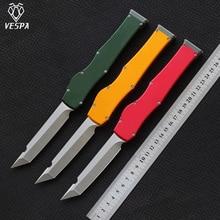 Yüksek kaliteli VESPA sürüm bıçak: M390 (saten) kolu: alüminyum + TC4, açık kamp survival bıçaklar EDC araçları