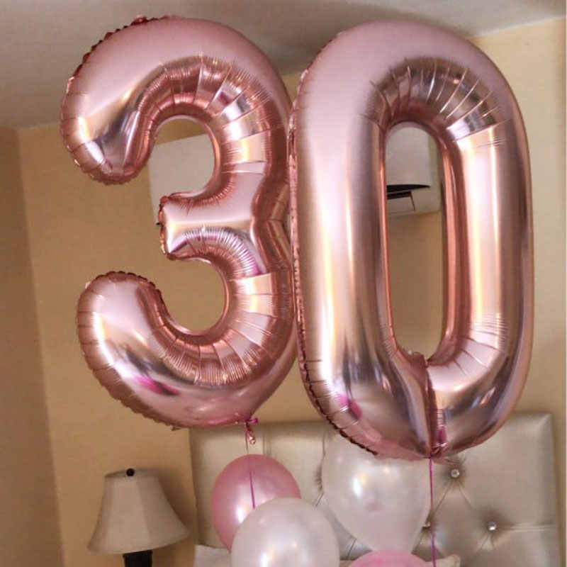 32 Inch Grote Folie Verjaardag Ballonnen Helium Nummer Ballon Figuren Happy Birthday Party Decoraties Kid Ballon Verjaardag Lucht Globos