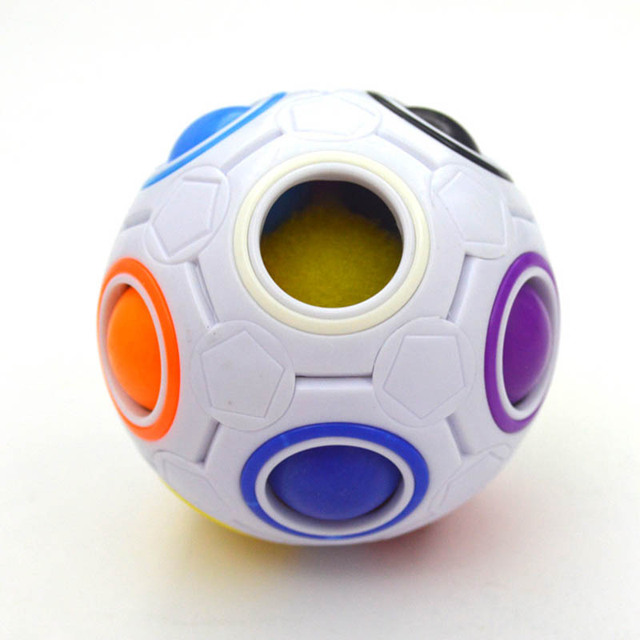 Creative Funny Antistress Figet Toy Adult Stress Reliever Rainbow 3D Magic Ball Football Cube Puzzle Kids Color Educational Toys 5