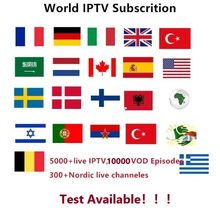 Iptv Smart français italie UK IPTV Abonnement couvrant 5000 + TV intelligente en direct et VOD gratuit italie USA Abonnement Iptv Test gratuit(China)