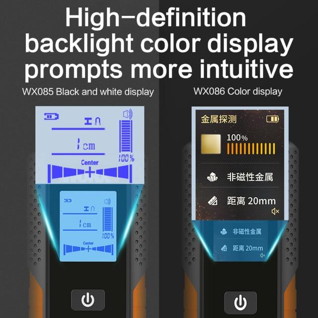 Worx Multifunctional Wall Detector WX085/WX086 Metal Wood & AC Cable 3in1 Detector 120mm depth Digital Display USB Rechargerable 5