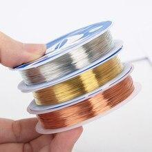 Oar 0.2-1mm fio de cobre para pulseira colar diy colorfast beading fio corda do cabo de jóias para artesanato jóias que fazem anéis