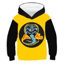 Hoodies Crewneck Long-Sleeve Sweatshirt Pullovers Cobra Animal-Print Girl Boy Kid Hard