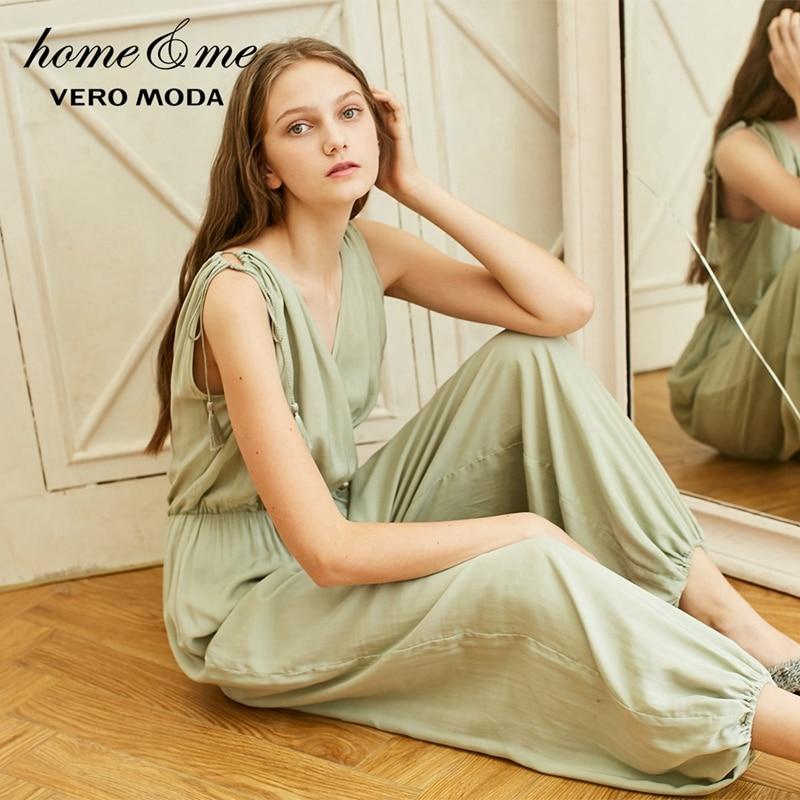 Vero Moda New Women's Fringed Trims V-neckline Homewear Jumpsuit | 3191P6501