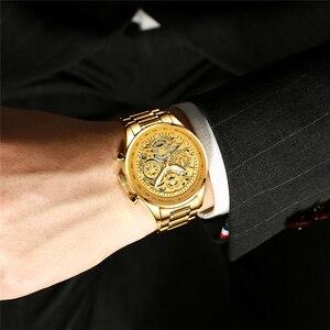 Image 5 - Nibosiメンズ腕時計レロジオmasculinoファッショントップブランドの高級クォーツ時計男性カジュアル高級防水スケルトン男性腕時計