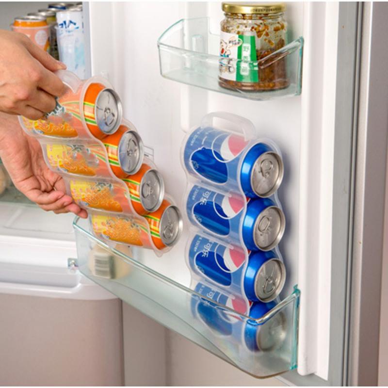 plastic beers soda cans holder storage holder space saving kitchen organization fridge rack portable refrigerator shelf for cans