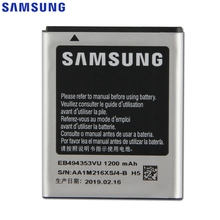 Samsung Original EB494353VU Battery For S5330 S5232 C6712 S5750 GT-S5570 i559 S5570 Replacement Phone 1200mAh
