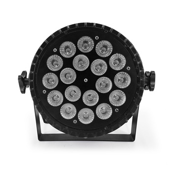 Aluminum Alloy LED Flat Par 18x12W 4in1 RGBW DMX512 For Discos Music Stage Effect Disco Lamp Stage Light