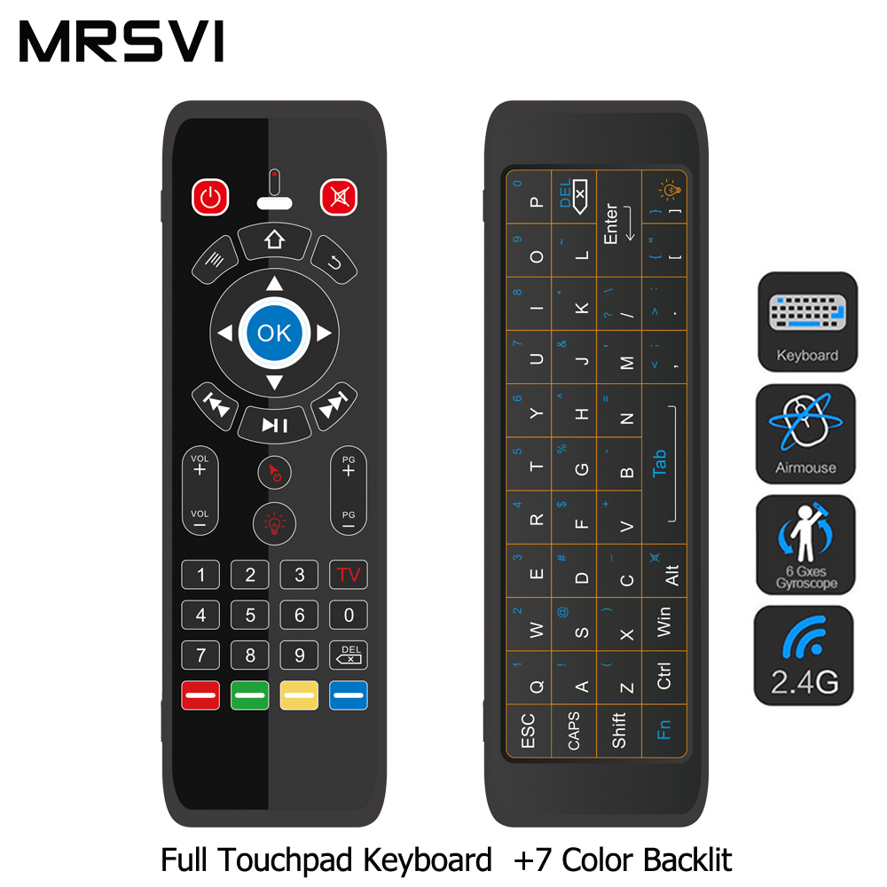 T16 2.4G Air Mouse Wireless Touchpad Keyboard 7 Backlit For Andriod TV Box Projector IPTV HTPC PC Laptop Smart Remote Controller