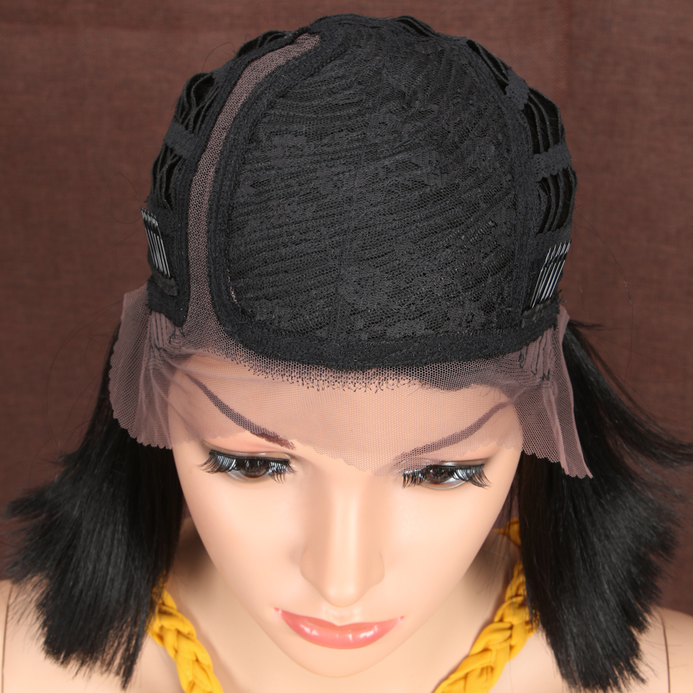 mulheres lado do cabelo sintético parte laço