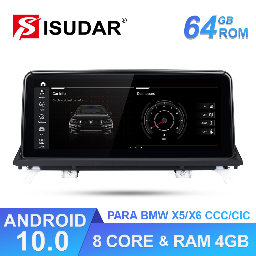 Isudar 1 Din Android 10 Auto Radio For <font><b>BMW</b></font> <font><b>X5</b></font> <font><b>E70</b></font>/X6 E71 (2007-2013) CCC/CIC System Car Multimedia Video Navigation 4G IPS image