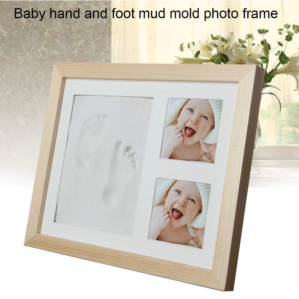 Baby Photo Frame Inkpad Set DIY Cute Hand Foot Print Mold Maker With Cover Fingerprint Mud Baby Growth Memorial Birthday Gifts