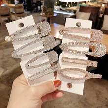 2019 Full Crystal Hairpins Woman Hair Accessories Pearl Clips Korean Style Grip Girls Sweet BB Barrettes