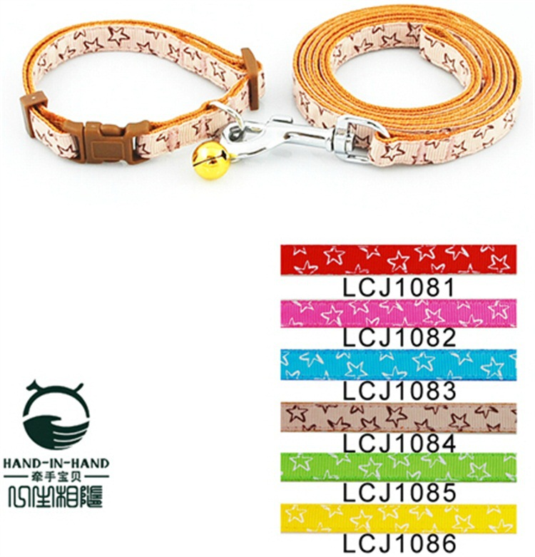 Hand-in-hand Hand-in-Hand Classic Series 1.0 Cm Stars Lace Pull Neck Band Dog Rope Set