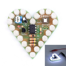 A7-- DIY Heart Shape Breathing Lamp Kit DC4V-6V DIY Electronic Producti