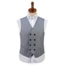 Мужской костюм высокого качества жилет корейский Тонкий Модный дизайн костюм жилет повседневный костюм сценическая одежда
