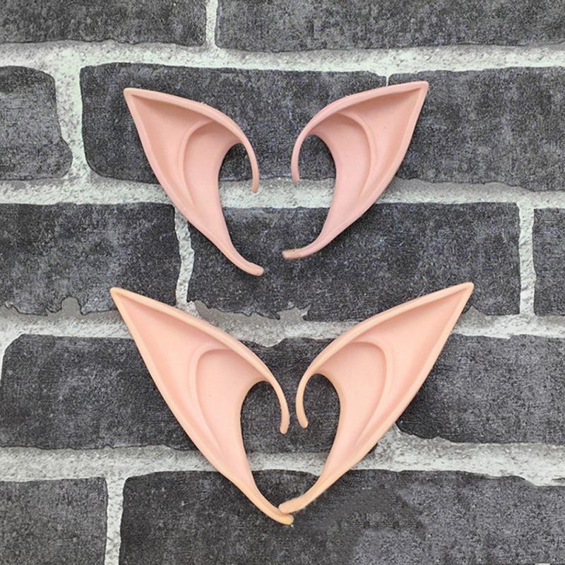 Halloween Latex Elf Ears Fairy Cosplay Soft Harmless False Ears Fairy Ears Party Props Halloween Decor Christmas Party Supplies
