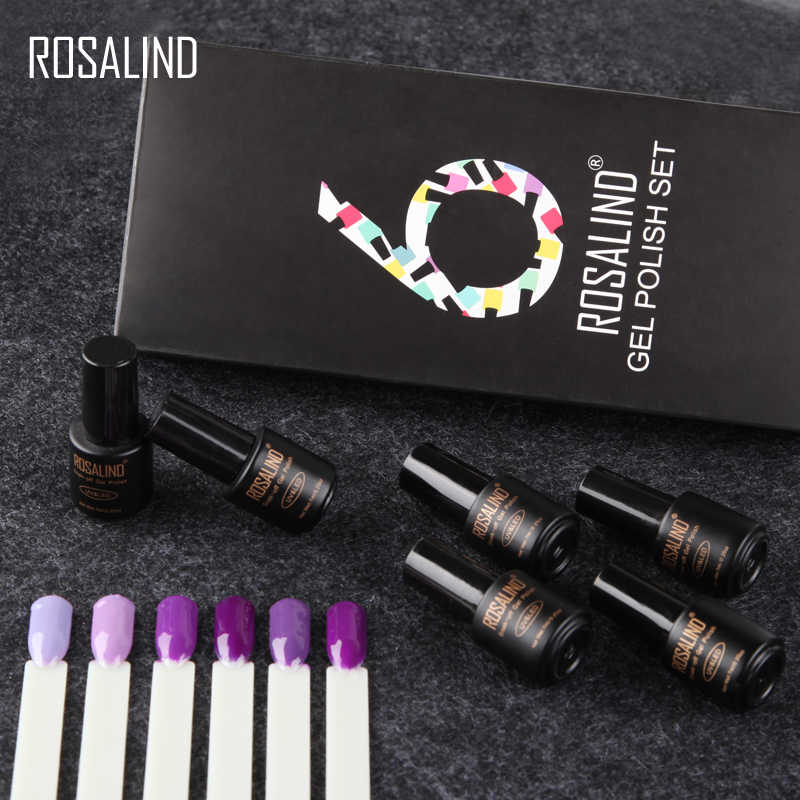 Rosalind Del Gel Del Chiodo Set 7 Ml (6 Pz/lotto) nail Polish Kit Semi Permanente Manicure Set Uv Led Unghie Artistiche Del Gel Smalto per Unghie