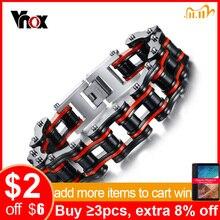 Vnox Nam Động Cơ Xích Xe Đạp Xe Máy Dây Chuyền Vòng Tay Vòng Nam Trang Sức Inox Thả Vận Chuyển
