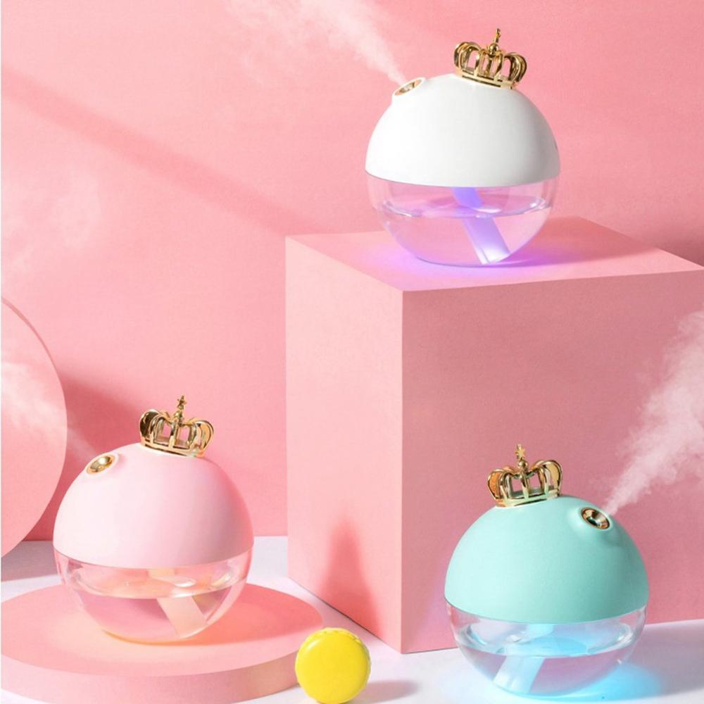 New 50ML Cute Crown Face Humidifier Facial Sprayer USB Mini Air Nano Nebulizer Steamer Hydrating Women Beauty Skin Care Tools image
