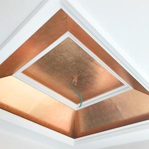Image 4 - 400 livrets Imitation feuille dor feuilles 25 pièces/livret 14X14cm et 16x16cm feuille de cuivre rouge #0 pour Art artisanat papier décoration de la maison