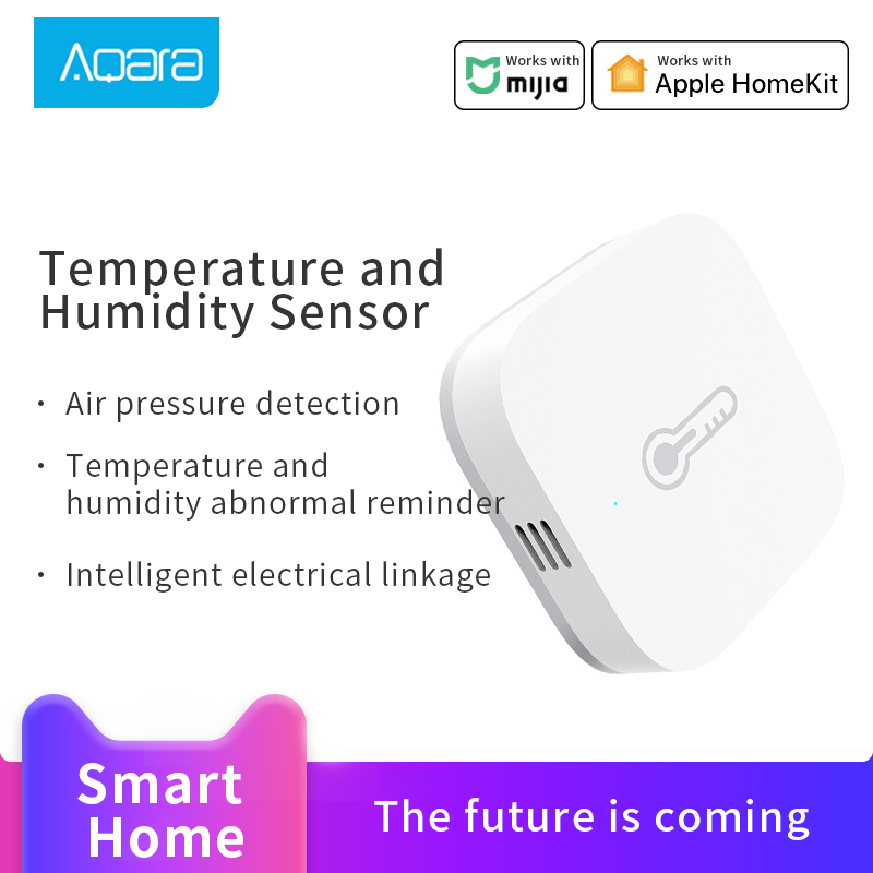 Aqara Smart Temperature Humidity Sensor Intelligent Environment Air Pressure Sensor Zigbee 3.0 Wireless Control Work For Mi Home
