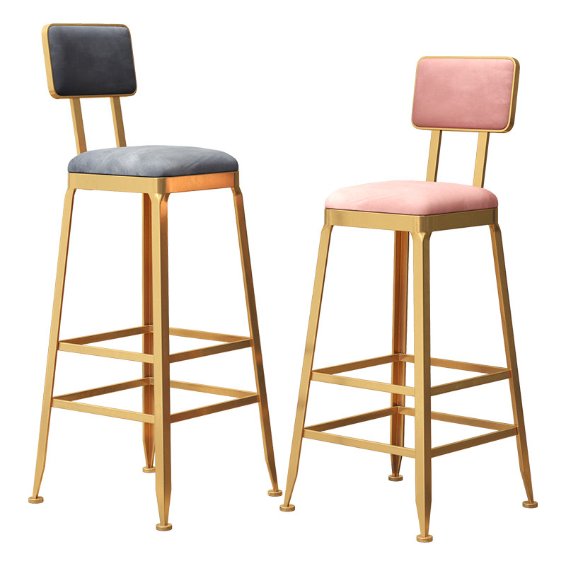Bar Chair Nordic Milk Tea Coffee Iron    Stool Modern Minimalist  Cashier High   At The Front Desk