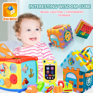 3Wbox Baby Toys Multifunctional Learning Cube With Clock Sort Geometric Blocks Stacking Cups Early Educational Toy For Kids