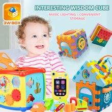 3wbox детские игрушки многофункциональный обучающий куб с часами