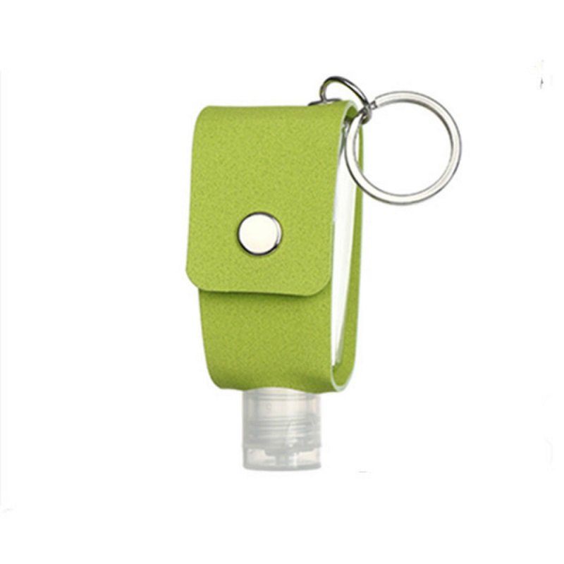 1pc Travel Hand Sanatizer Holder Keychain Leather Case Refillable Containers Empty Reusable Bottles With Keyring Carrier Perfume 11